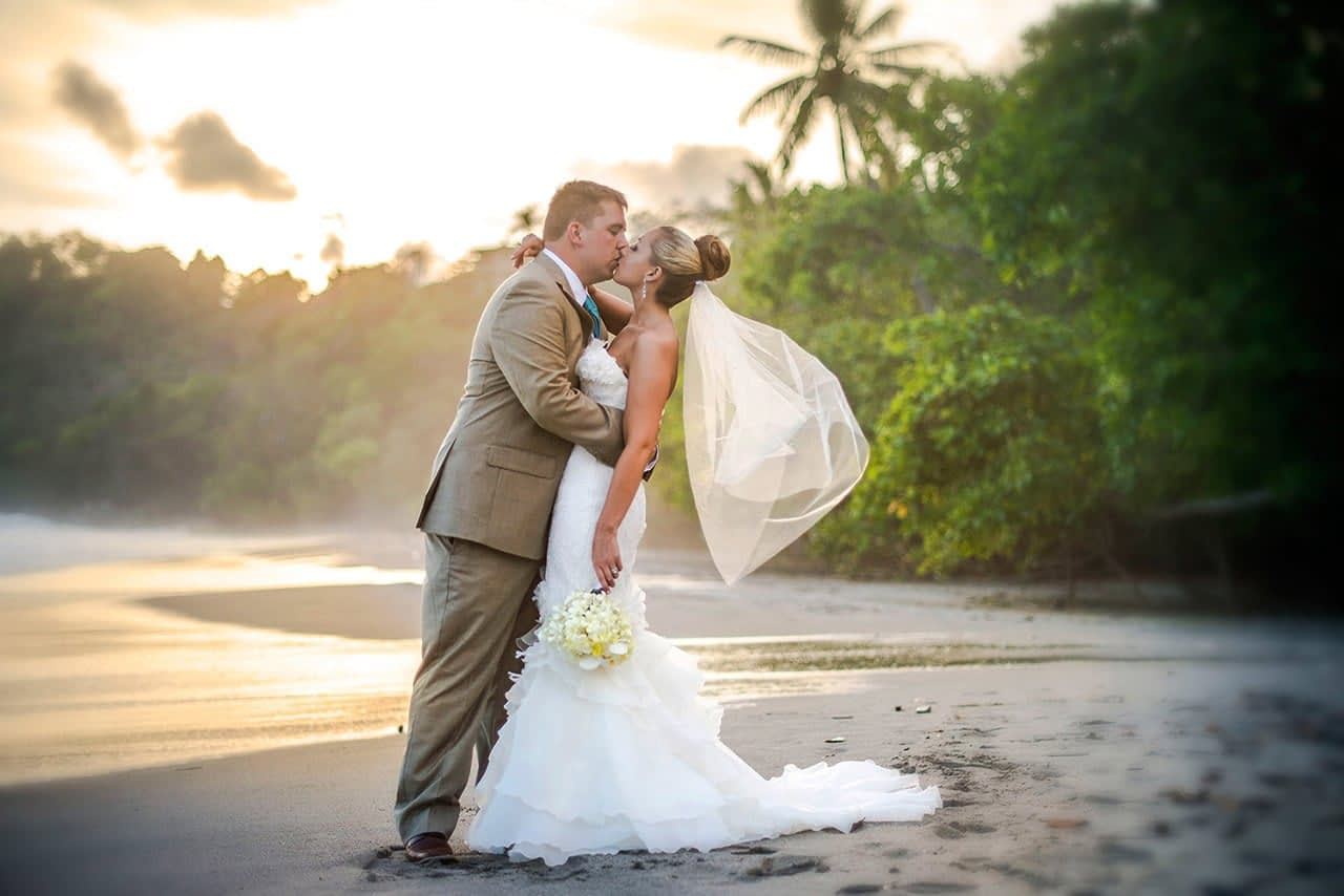 married couple after villa punto de vista wedding ceremony