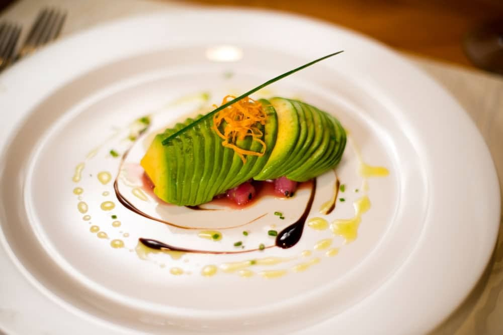 food at private luxury villa