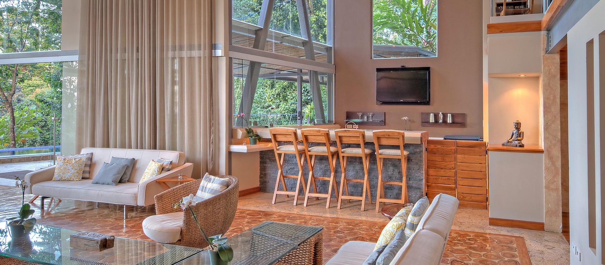 social areas for private group villas in costa rica