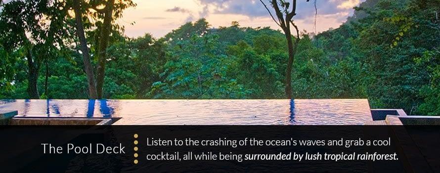 Pool Deck Wedding Costa Rica