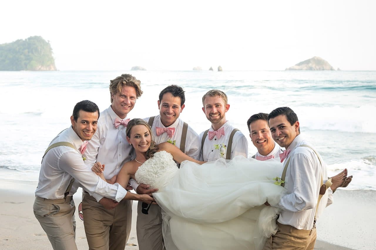 wedding on the beach at villa punto de vista
