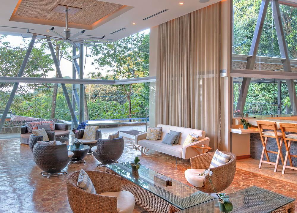 private group villa social areas