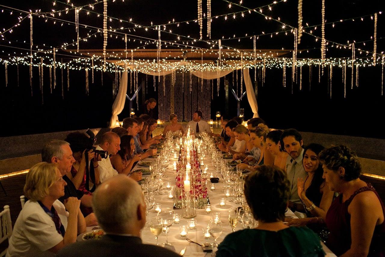 Villa punto de vista wedding reception