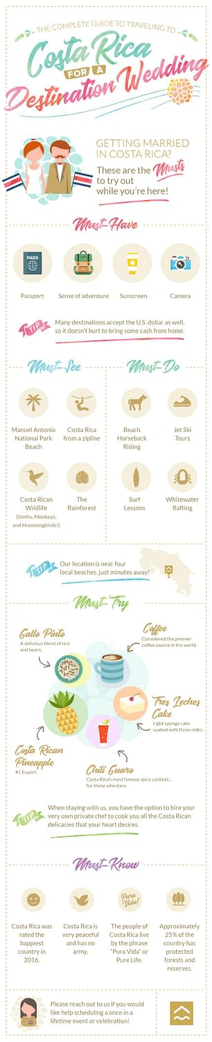 guide to traveling to costa rica for a destination wedding