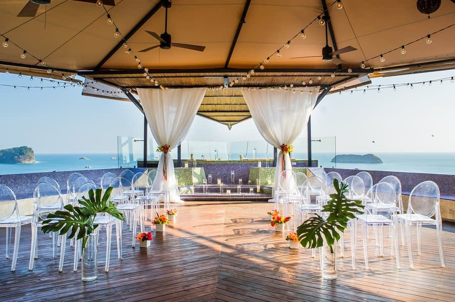 costa rica beach wedding locations