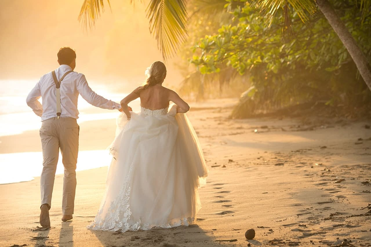 beachfront destination wedding costa rica
