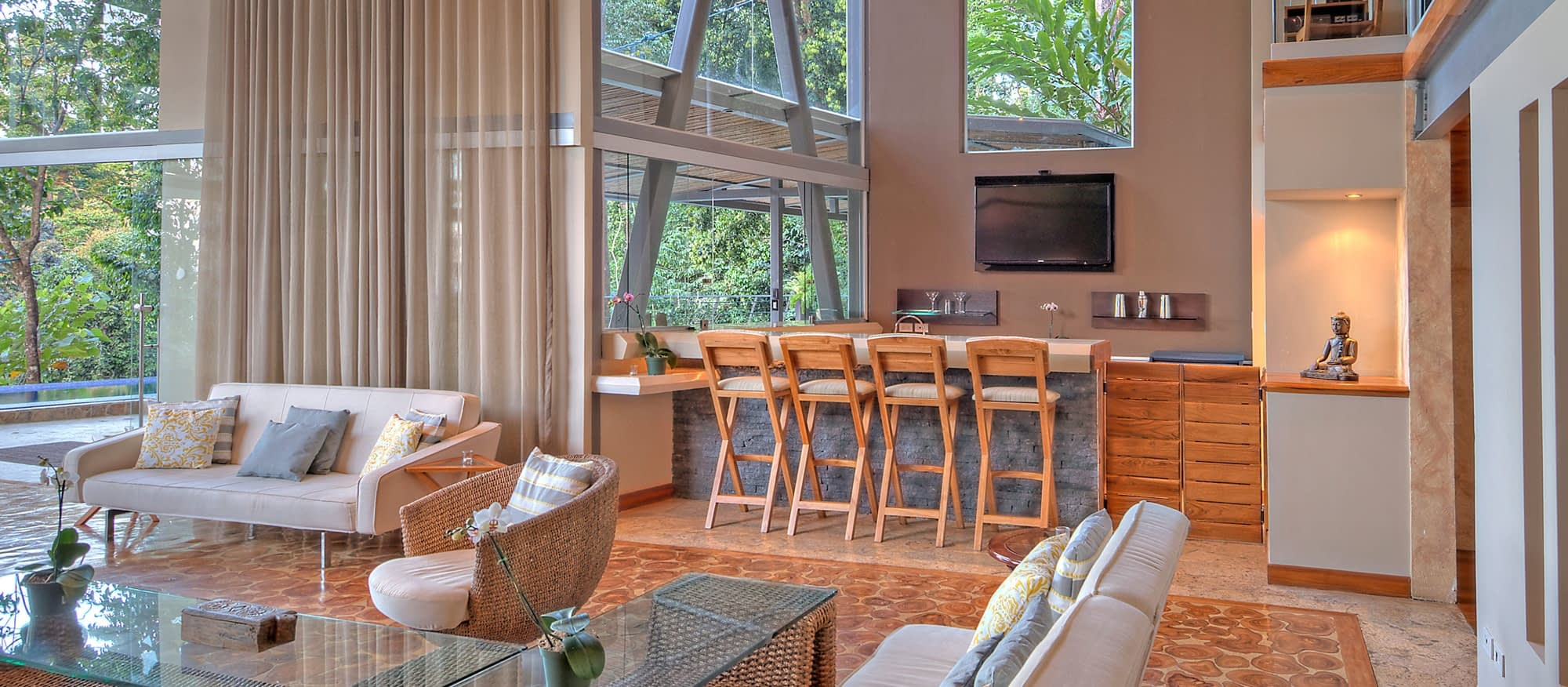 social areas for private group villas in costa rica