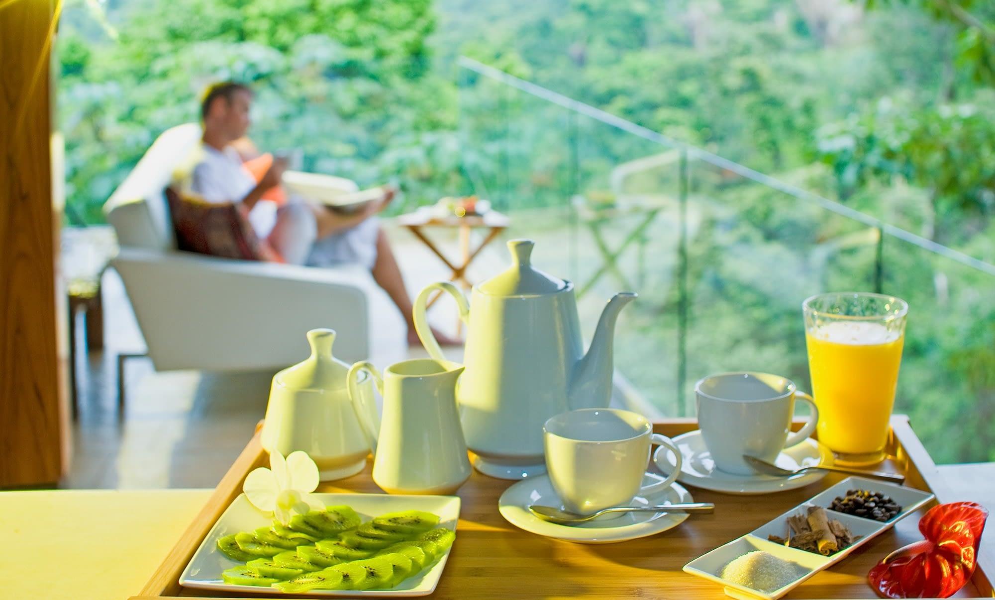 complimentary breakfast in costa rica villa