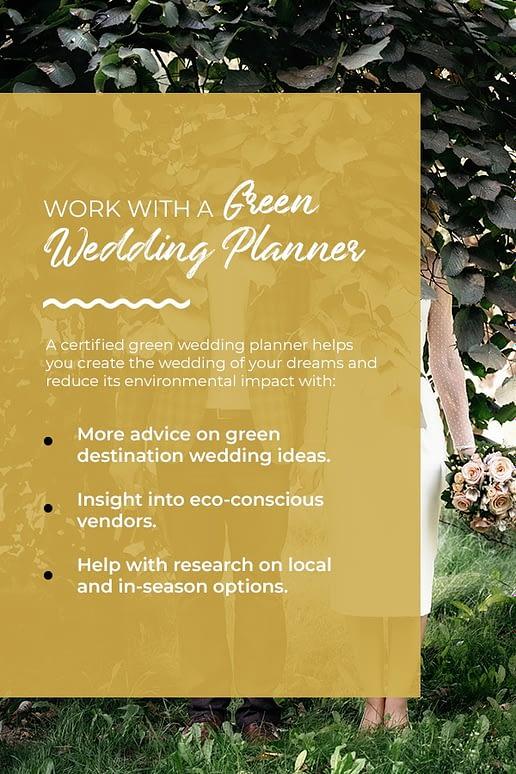 green destination wedding planner