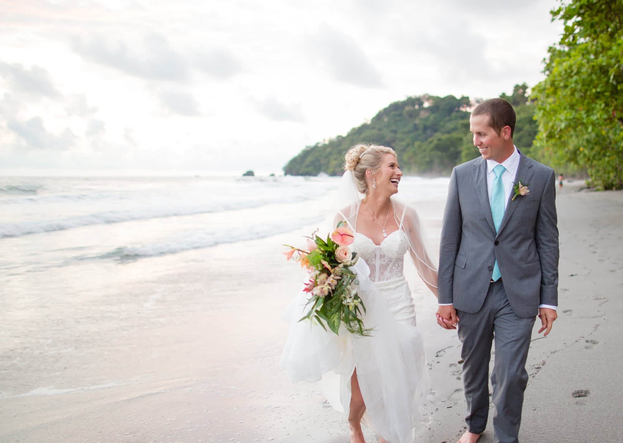 beach destination wedding at costal villa