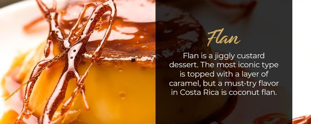 flan traditional costa rican dessert
