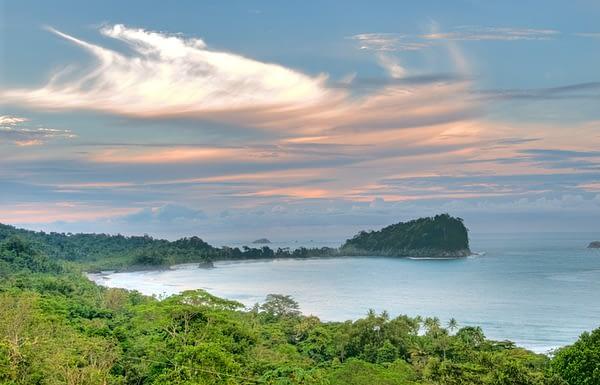 costa rica coastline viewed from luxury villa