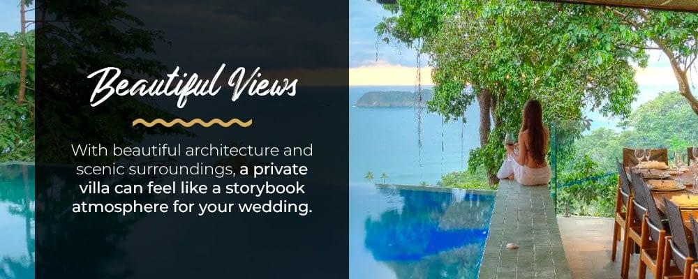 luxury villa destination wedding