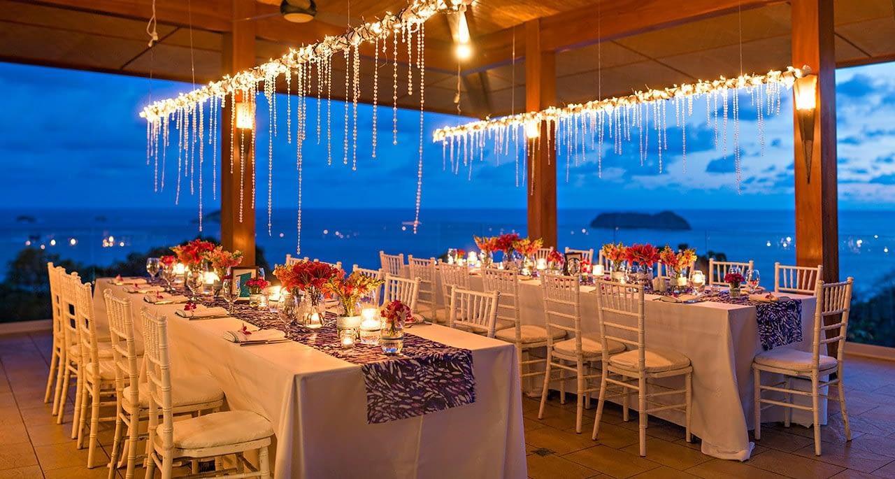 reception for wedding at villa punto de vista