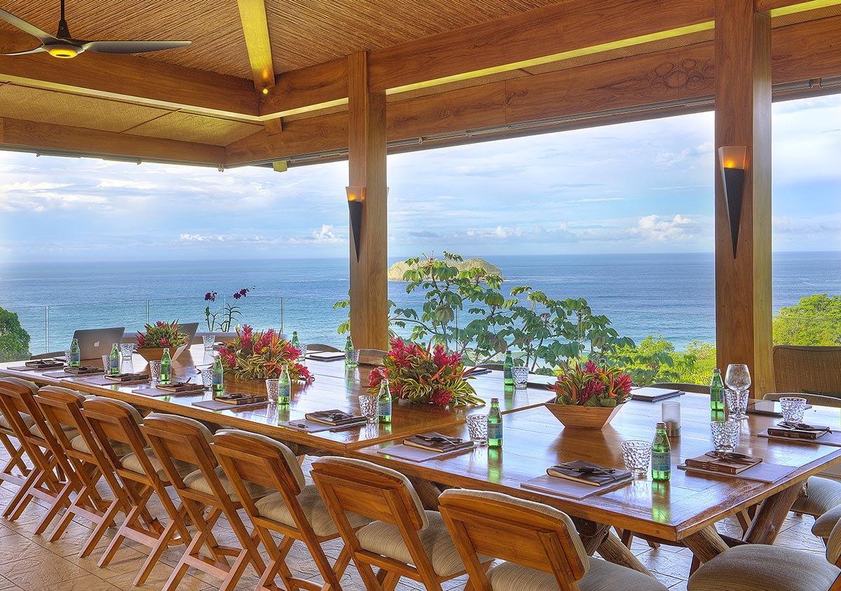 cost rica villa rooftop dining
