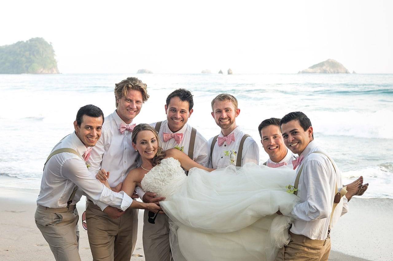 wedding on the beach at villa punto de vista