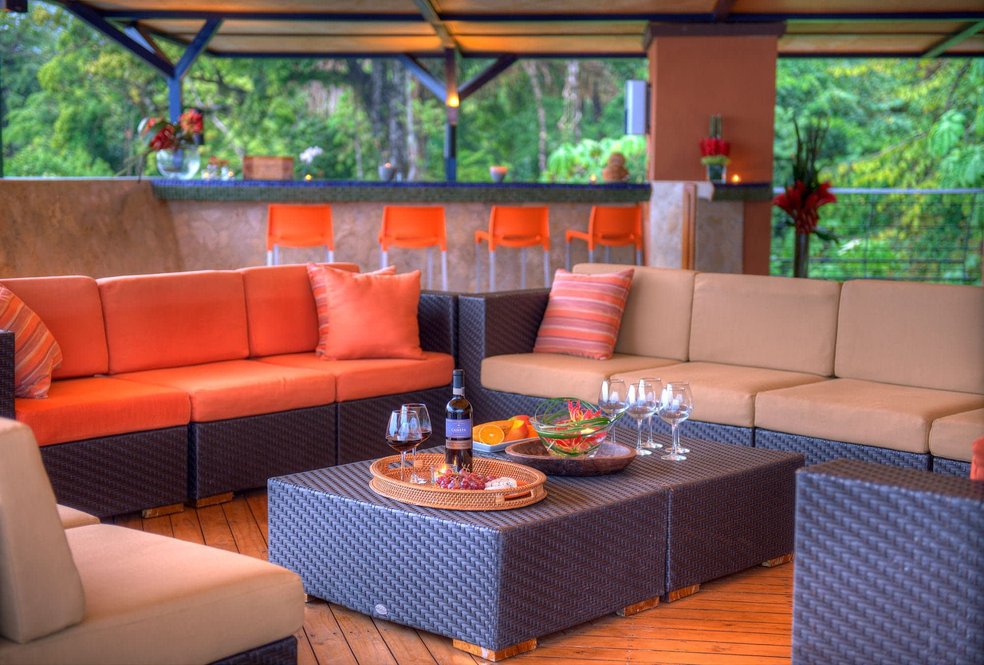 Private Terrace for Events in Luxury Villa