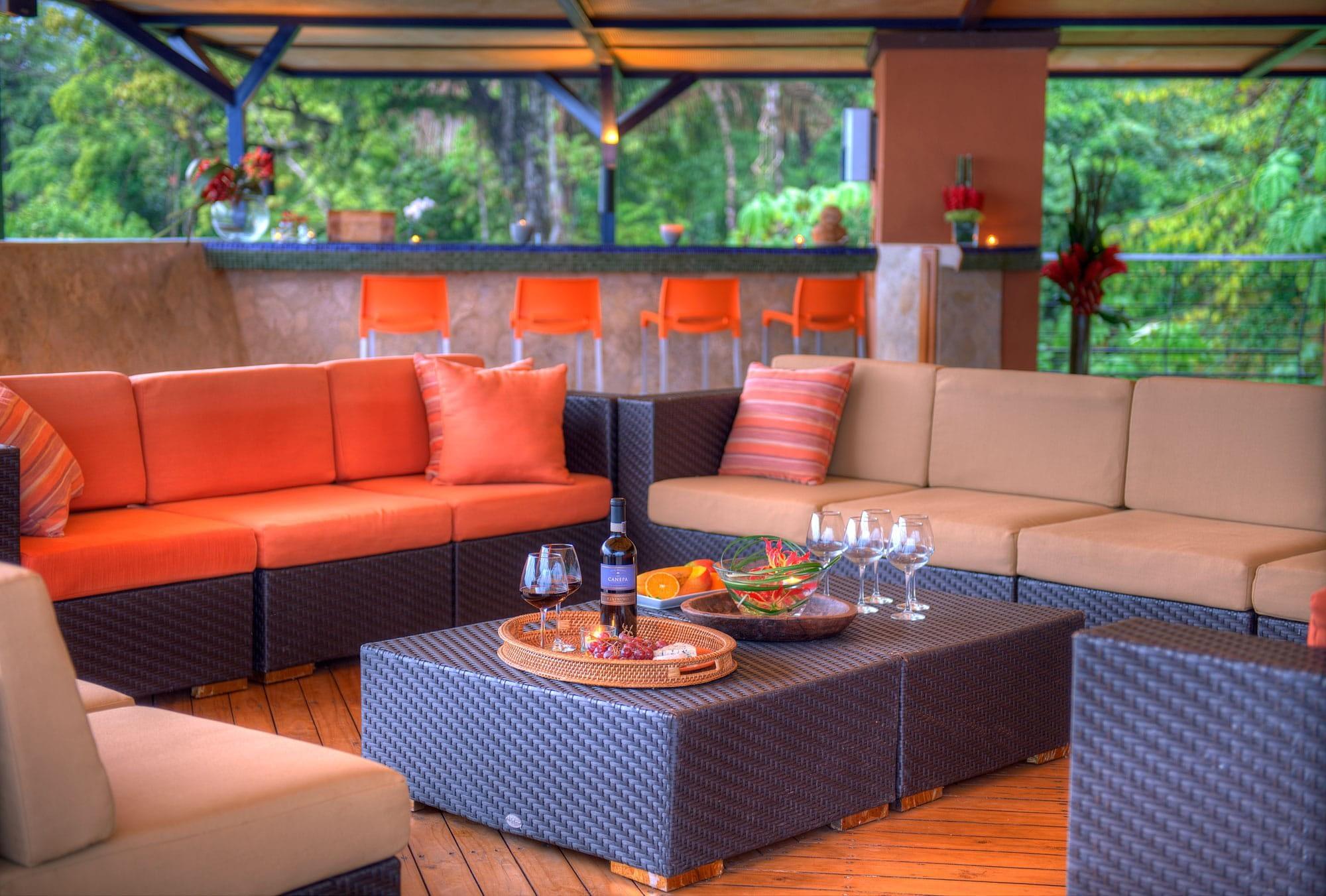 Private Terrace for Events in Luxury Villa