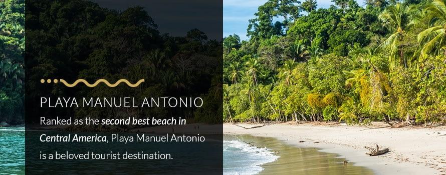 Playa Manuel Antonio Best Beach in Costa Rica, Second Best Beach in Central America