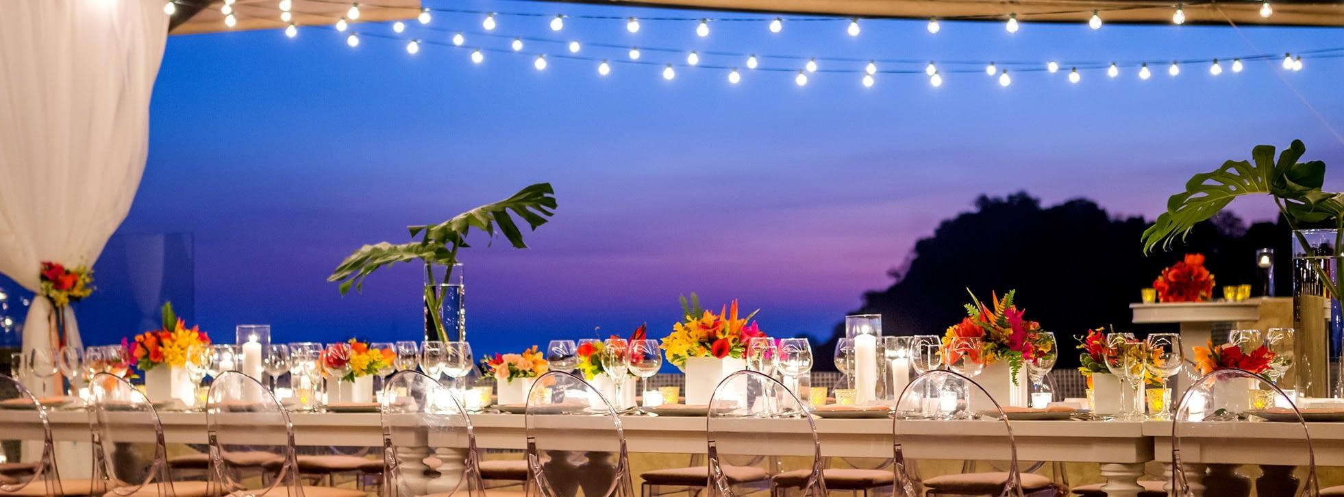 wedding reception in luxury villa